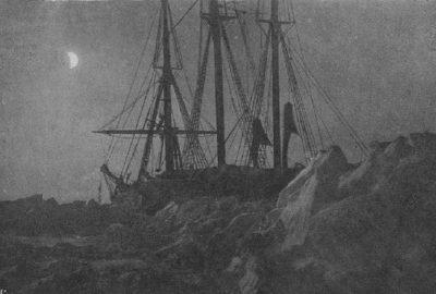 Le Fram dans les glaces en janvier 1895