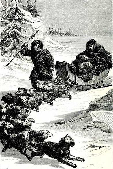 Kopeç en traîneau en Sibérie