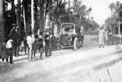 L'automobile dans la Palmeraie d'Elche dans la région de València