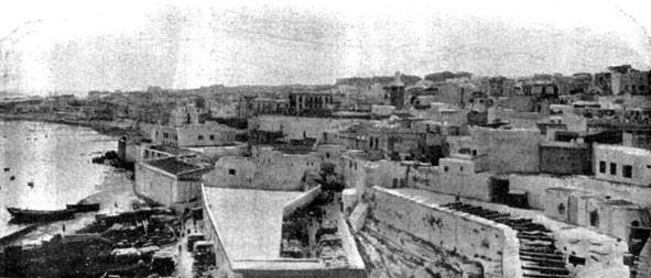 Panorama de Tanger en 1907
