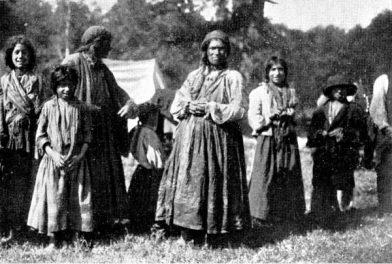 Tziganes nomades à Karlstadt (aujourd'hui en Karlovac en Croatie)