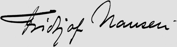 Signature de Nansen de 1919