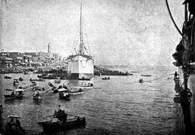 Port-Saïd au nord du Canal de Suez