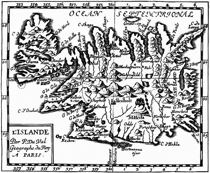 Carte de l'Islande jointe au livre