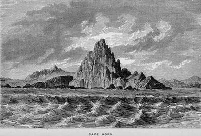 Gravure du Cap Horn dans une traduction anglaise de 1859