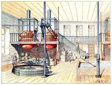 Une brasserie à la fin du 19e siècle