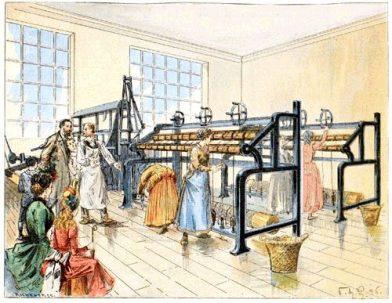 Une filature à la fin du 19e siècle