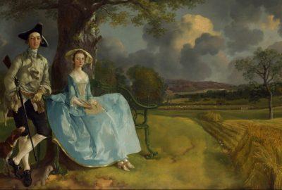 Robert Andrews, considéré par Arthur Young comme un pionnier modèle de la gestion agricole, avec sa femme dans un double portrait par Thomas Gainsborough