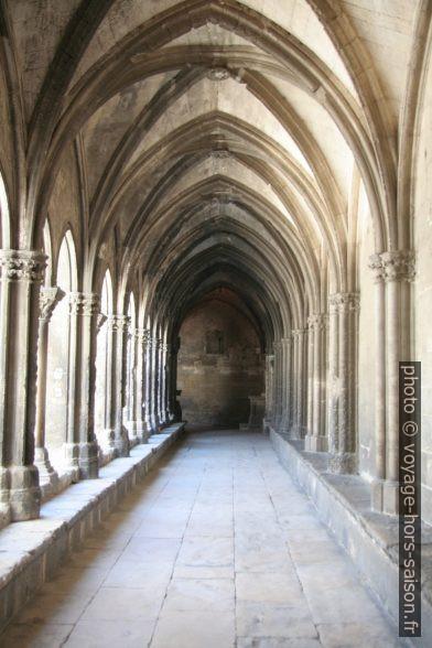 Sous la galerie ouest gothique du Cloître Saint-Trophime. Photo © André M. Winter