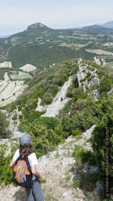 Sur le chemin au pied des falaises à l'est Dentelles Sarrasines. Photo © André M. Winter