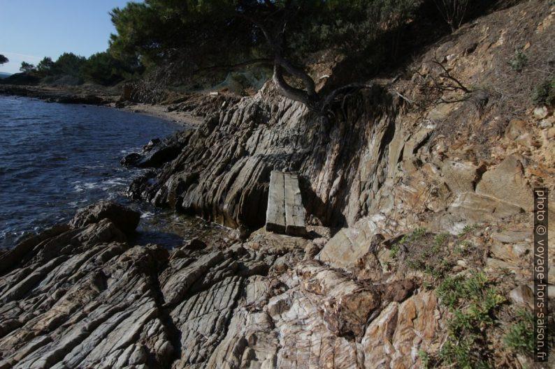 Sentier su littoral à l'ouest de la Plage de l'Îlot du Jardin. Photo © André M. Winter