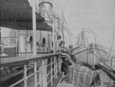 Sur le pont du bateau de croisière