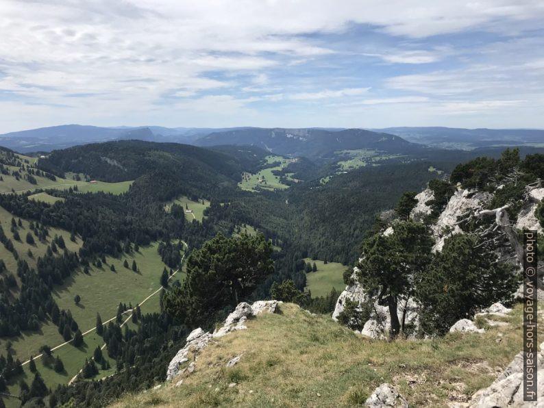 Vue dans la vallée de la Jougnena. Photo © Alex Medwedeff