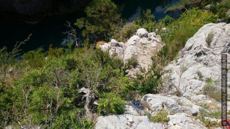 Vue de la descente après le chêne. Photo © André M. Winter
