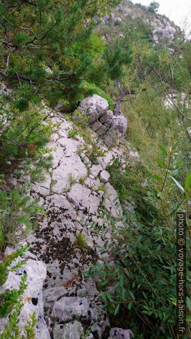 Les rochers reprennent. Photo © André M. Winter