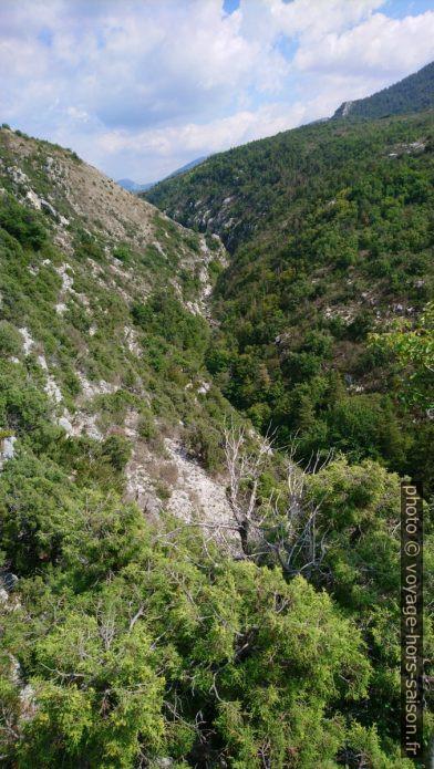 Vue dans la parie amont des des Gorges de l'Artuby. Photo © André M. Winter