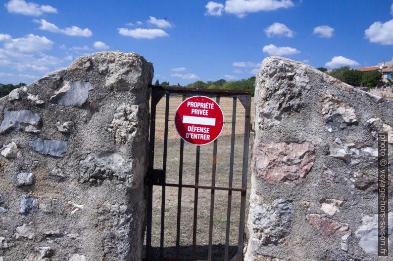 Propriété privée et défense d'entrer pour prendre des photos. Photo © André M. Winter