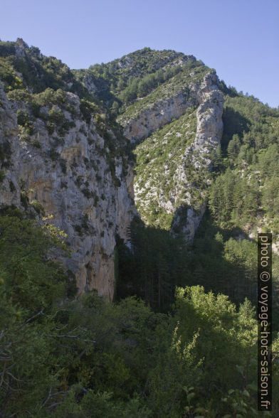Sortie basse des Gorges de Trévans. Photo © Alex Medwedeff