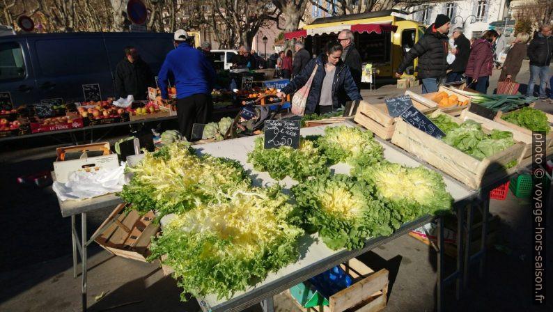 Salade frisée de Provence au marché d'Auriol. Photo © André M. Winter