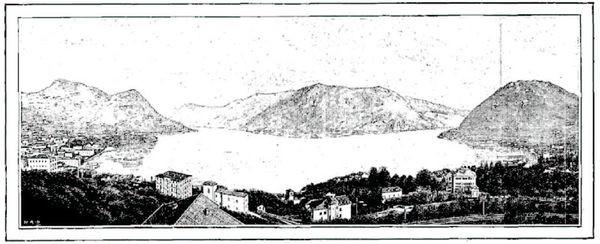 Les deux bras du Lac de Lugano