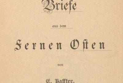 Titre du livre Briefe aus dem Fernern Osten von E. Haffter