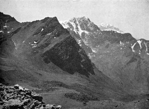 Vue vers l'Aconcagua
