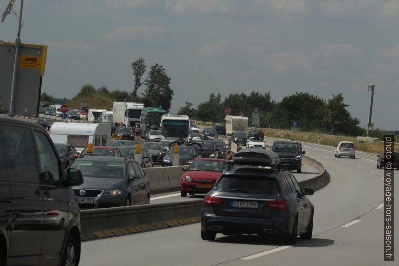 Travaux sur l'autoroute. Photo © André M. Winter