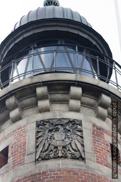Relief de l'aigle impérial allemand sur le phare de Holtenau nord. Photo © André M. Winter