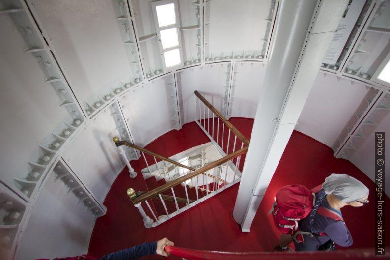 Niveau intermédiaire dans la tour du phare de Lindesnes. Photo © André M. Winter