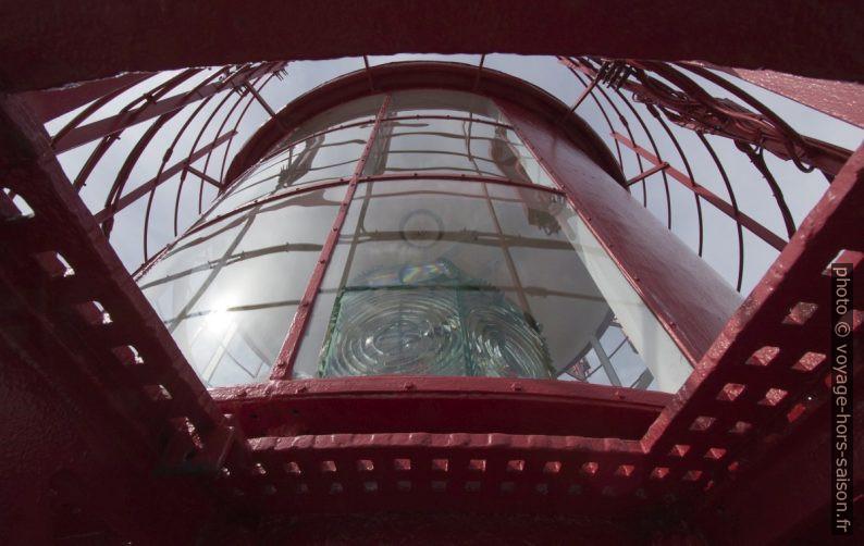Lanterne et lentille de Fresnel du phare de Lindesnes. Photo © André M. Winter
