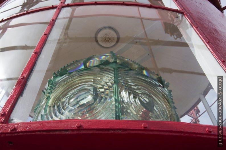 Lentille de Fresnel du phare de Lindesnes. Photo © André M. Winter