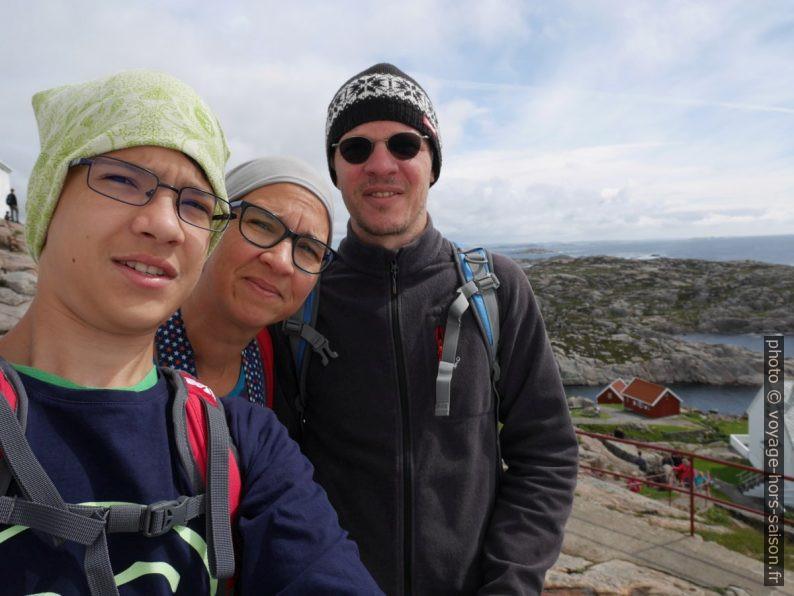 Selfie de Nicolas avec Alex et André. Photo © Nicolas Medwedeff