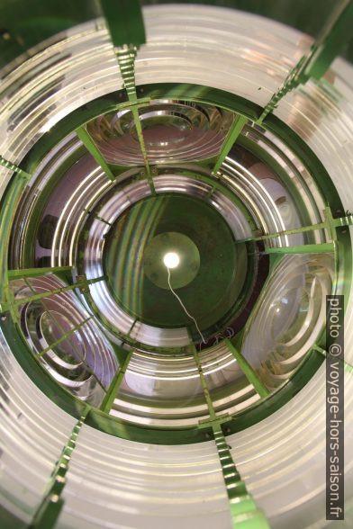 Vue verticale dans une lentille de Fresnel. Photo © André M. Winter