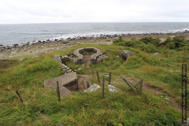 Positions du Mur de l'Atlantique près du phare de Lista. Photo © André M. Winter