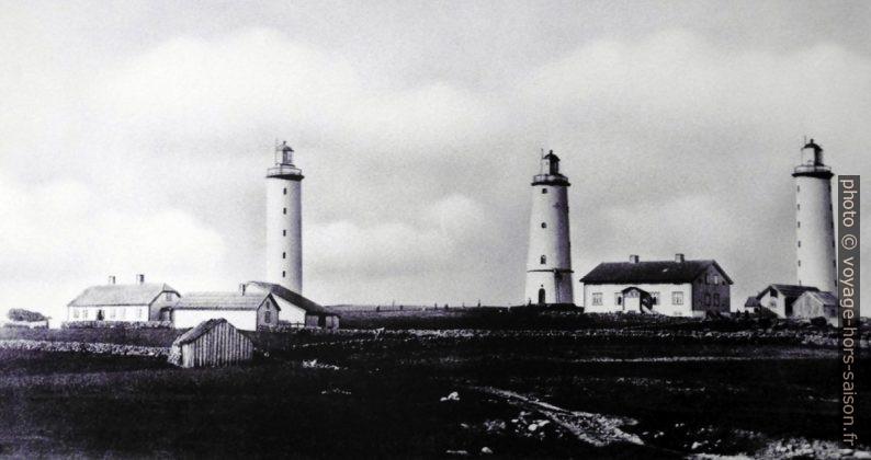 Les trois phares de Lista de 1853 à 1873. Photo © André M. Winter