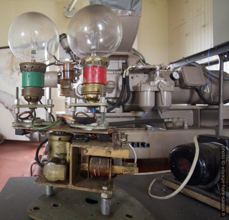 Ancien changeur automatique de lampes du phare de Lista. Photo © André M. Winter