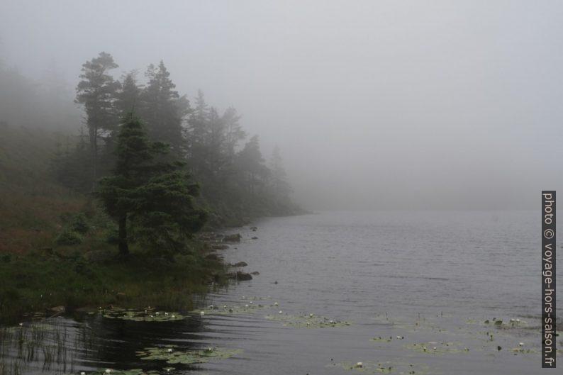 Lac Rudjordsvannet sous la brume. Photo © Nicolas Medwedeff