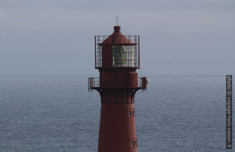 Lanterne et lentille de Fresnel du phare d'Eigerøy. Photo © André M. Winter
