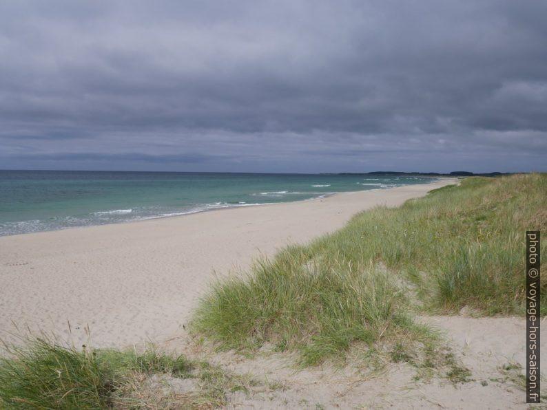La dune et le plage de Brusanden. Photo © Nicolas Medwedeff