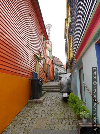 Maisons colorées de la Øvre Holmegate. Photo © Nicolas Medwedeff