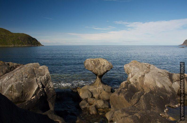 Kannesteinen de Vågsøy vu d'en haut. Photo © Alex Medwedeff