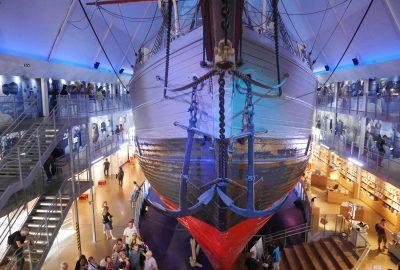 Vue de la proue du Fram dans l'axe du navire. Photo © Nicolas Medwedeff