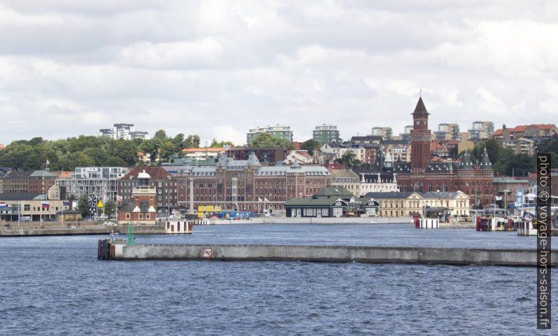 Helsingborg vue de la mer. Photo © André M. Winter