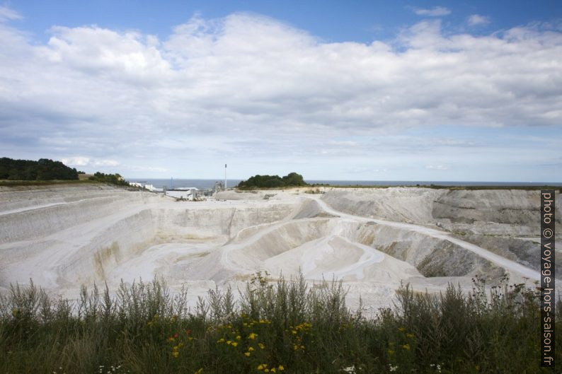Mine de craie Stevns Kridtbrud. Photo © Alex Medwedeff