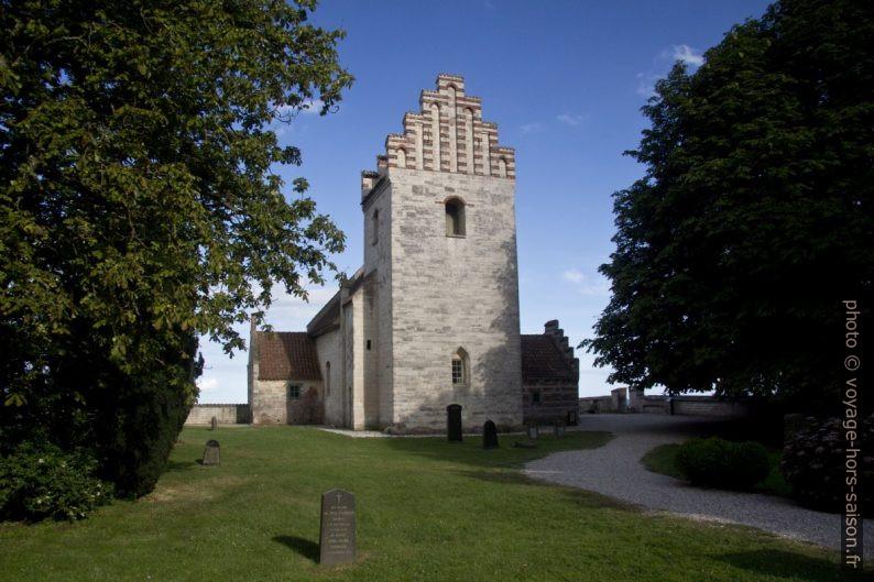 Clocher de l'ancienne église de Højerup. Photo © André M. Winter