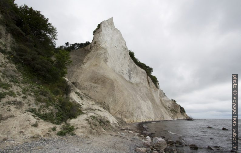 Pointe de craie à Møns Klint. Photo © André M. Winter