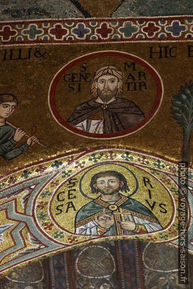 Médaillons de saints dans la Chapelle Palatine. Photo © André M. Winter