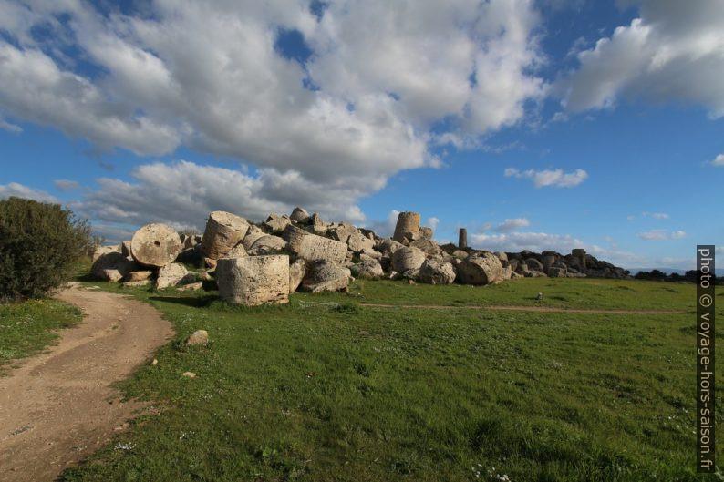 Temple G de Sélinonte vu du sud-ouest. Photo © André M. Winter