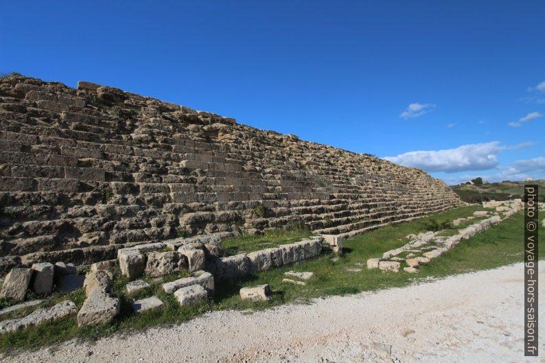 Mur défensif est de l'Acropole de Selinunte. Photo © André M. Winter