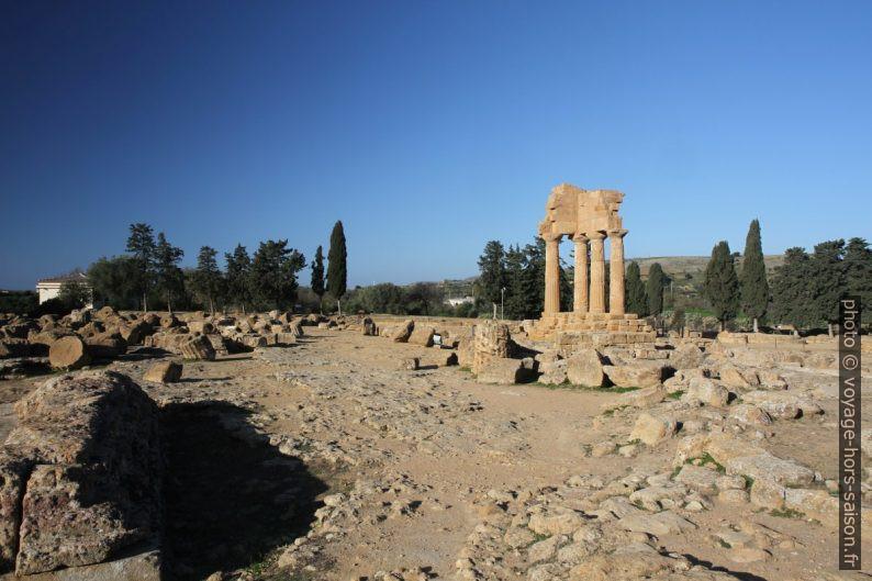 Tambours de colonnes du Temple L. Photo © Alex Medwedeff